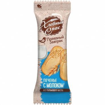 Печенье Хлебный спас Полезный завтрак с молоком