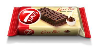 Пирожное бисквитное 7DAYS Cake Bar неглазированное с кремом какао