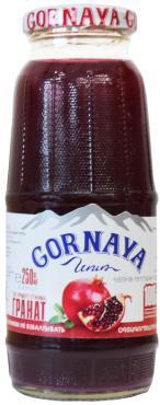 Сок гранатовый Gornaya, 500 мл., Стекло