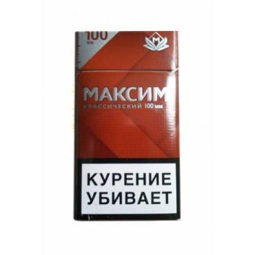 Сигареты Максим Красный, картонная пачка