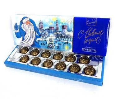 Конфеты Кутюрье Дед Мороз с вафельной крошкой