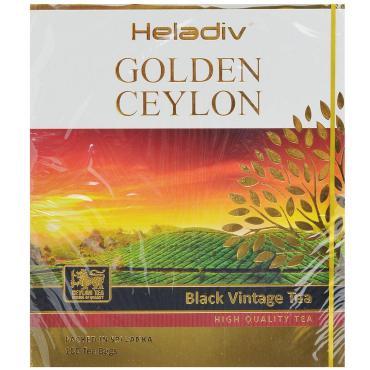 Пакетированный чай Heladiv Golden Ceylon Vintage Black черный, 100 пакетиков