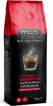 Кофе в зернах Must Pure Arabica, 500 гр., фольгированный пакет