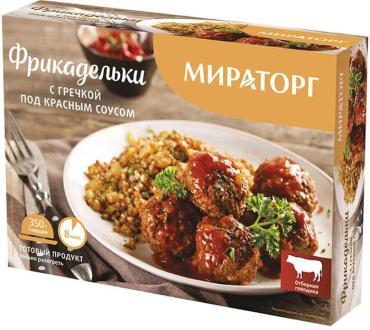 Фрикадельки Мираторг с гречкой под красным соусом, 350 гр.*10