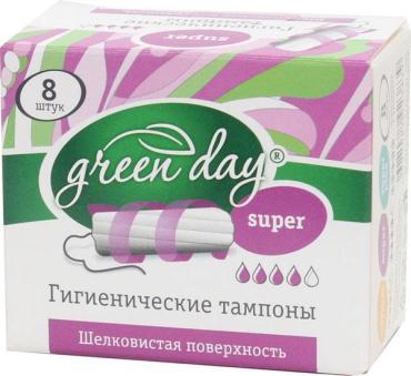 Тампоны Green day Super 8 шт
