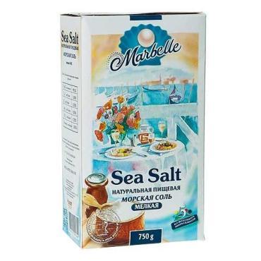Соль Marbellе морская йодированная мелкая