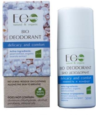 Дезодорант-шарик-Био для тела Нежность и Комфорт Ecolab, 50 мл., Картонная коробка