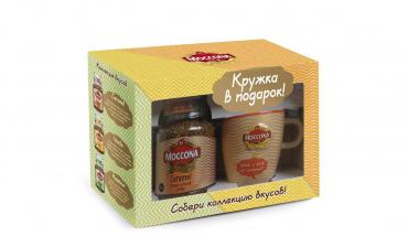 Кофе Moccona ароматом карамели + кружка