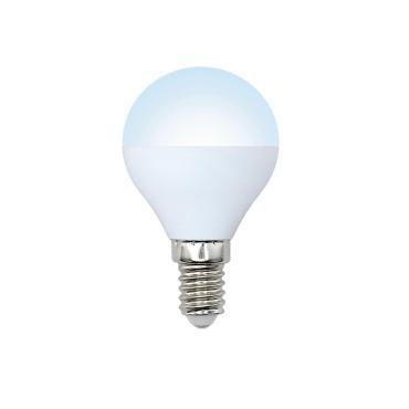 Лампа светодиодная, форма шар, матовая, белый свет (4000K), LED-G45-11W/NW/E14/FR/NR, Volpe Norma, 34 гр., картонная коробка