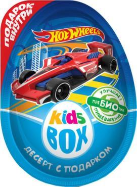 Шоколадное яйцо с подарком Конфитрейд Кidsbox hot wheels 2, 20 гр., пластиковая упаковка