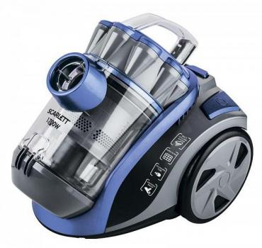 Пылесос цвет синий, серый, размер 330 х 290 х 250, мм., Scarlett SC-VC80C03, Sky Blue, 4,9 кг.