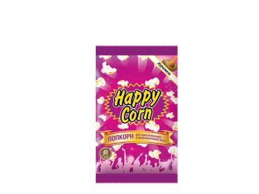 Попкорн Happy Corn Карамель Для приготовления в СВЧ