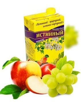 Нектар виноградно-яблочный осветленный, Истинный, 1 л., тетра-пак
