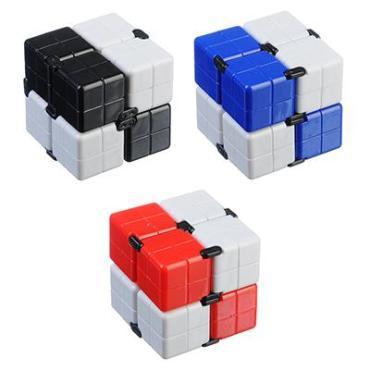 Игрушка-антистресс Кубик-Бесконечность 360 градусов, пластик, 8х4х2см, 3-4 цвета 297013