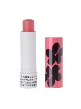 Бальзам-стик Korres для губ уход и цвет гибискус