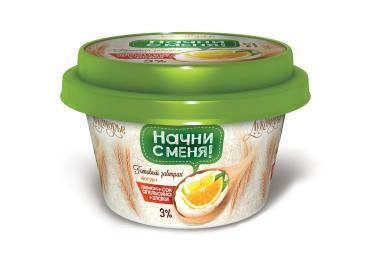 Йогурт Лукоморье Готовый завтрак С лимоном соком апельсина и злаками 3%