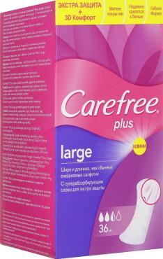 Прокладки Carefree plus Large 36 шт