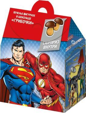 Печенье Конфитрейд DC Comics Супергерои Грибочки с сюрпризом