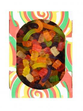 Мармелад жевательный, микс в форме червяков и медвежат, Русский кондитер, 1 кг., коробка