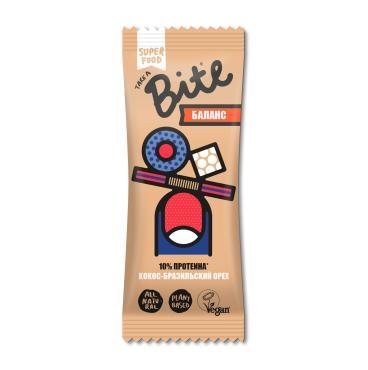 Батончик фруктово-ореховый Take A Bite Баланс Кокос-Бразильский орех, 45 гр., флоу-пак
