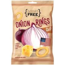Снеки картофельные Луковые кольца со вкусом сыра, Mini Free, 45 гр, флоу-пак