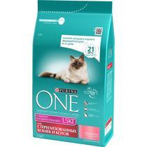 Корм Purina One для стерилизованных кошек и котов с лососем и пшеницей