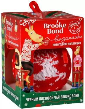 Чай черный Brooke Bond Листовой Шарик новогодний