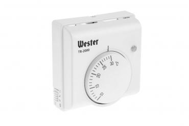 Терморегулятор TR-2000 до 2000 Вт механический, Wester, 170 гр., картонная коробка