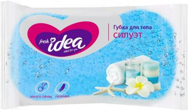 Мочалка Fresh Idea СИЛУЭТ для нежной кожи, 1 шт