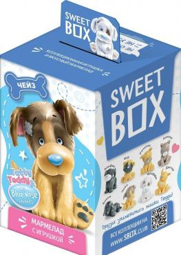 Мармелад жевательный Пушистики щенята с игрушкой, Sweet Box, 20 гр., картон