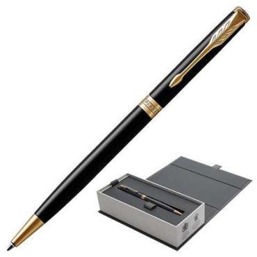 Ручка шариковая Parker Sonnet Black Lacquer GT Slim черная, 1,0 мм.