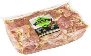 Шашлык свиной классический, охлажденный, Заволжский, 2,2 кг., вакуумный пакет