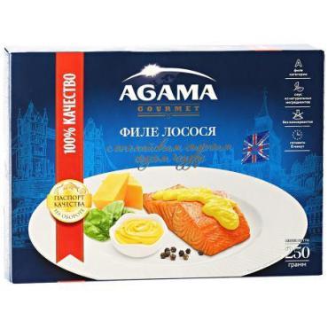 Филе лосося Agama Чеддер свежемороженое с сырным соусом