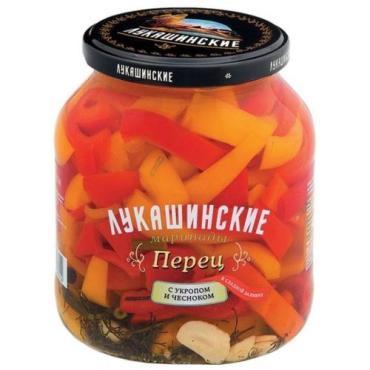 Перец Лукашинские В сладкой заливке с укропом и чесноком