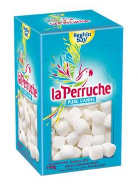 Сахар La Perruche тростниковый белый колотый, FR