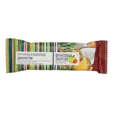 Батончик Фрутилад фруктовый Джунгли в шоколаде, 30 гр., флоу-пак