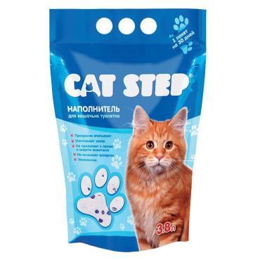 Наполнитель впитывающий для кошачьего туалета силикагелевый Cat Step 3.8 л. Дой-пак