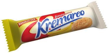 Печенье Кухмастер Kremareo сахарное с банановой начинкой