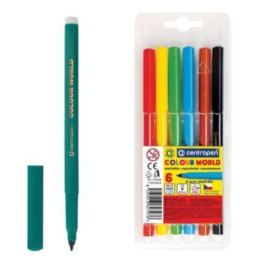 Фломастеры Centropen Color World 6 цв. смываемый