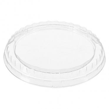 Крышка одноразовая Комус К-95П 9,8х9,8х1,3 см. круглая прозрачная