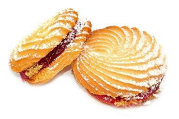 Печенье Столичный пекарь Чародейка с малиновым джемом 2,5кг