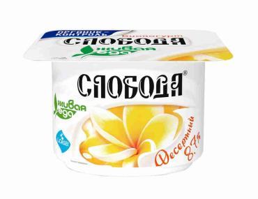 Биойогурт десертный, Слобода, 125 гр, ПЭТ