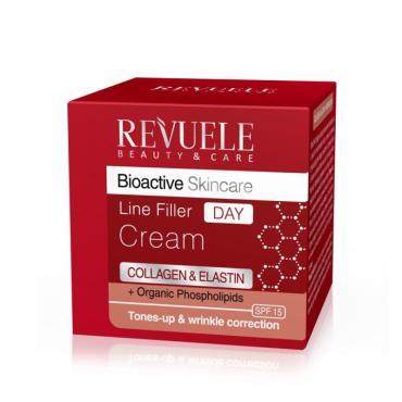 Крем-филлер для лица Revuele Bioactive Skincare Collagen&Elastin Organic Phospholipids Интенсивный, День