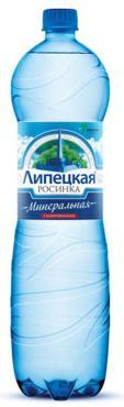 Минеральная вода газированная, столовая Липецкая Росинка, 1,5 л., Пластиковая бутылка