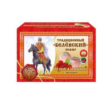 Зефир Изысканный с малиной, Белевский Продукт, 200 гр., картонная коробка