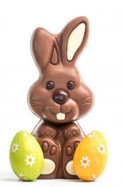 Набор шоколадных фигур С праздником пасхи 3 шт., 78 гр.