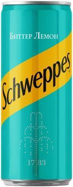 Напиток безалкогольный сильногазированный Schweppes Bitter Lemon, 330 мл., ж/б
