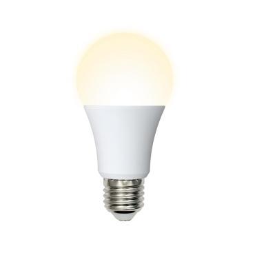 Лампа светодиодная. Форма A, матовая. Серия Norma. Теплый белый свет 3000 K. LED-A65-20W/WW/E27/FR/NR, Volpe, 62,5 гр., картонная коробка