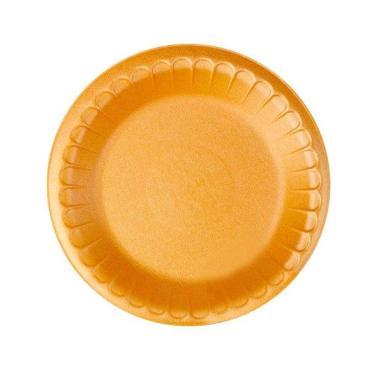 Тарелка d=225 мм., оранжевая, ВПС., 100 шт/уп., 1200 шт/кор., ПолиЭр, пластиковый пакет