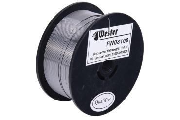 Проволока сварочная FW 08100 флюсовая 990-058 0.8 мм., Wester, 1,1 кг., картонная коробка